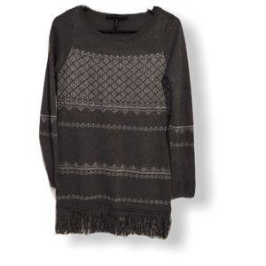 White House Black Market Embellished Gray Sweater